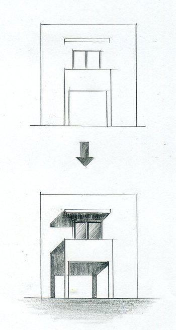 手描きパースの描き方 影をつける 手描きパースの描き方 建物の