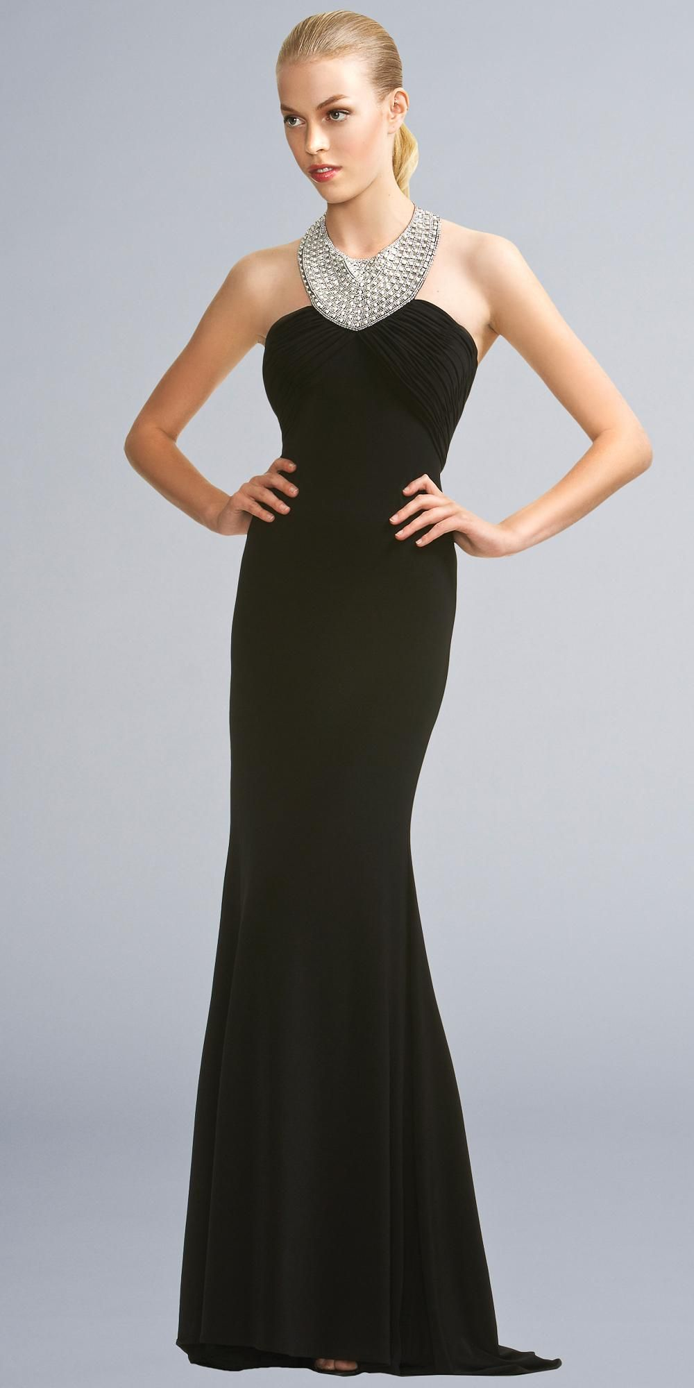 Long Black Evening Gowns | Favorite Places & Spaces | Pinterest ...