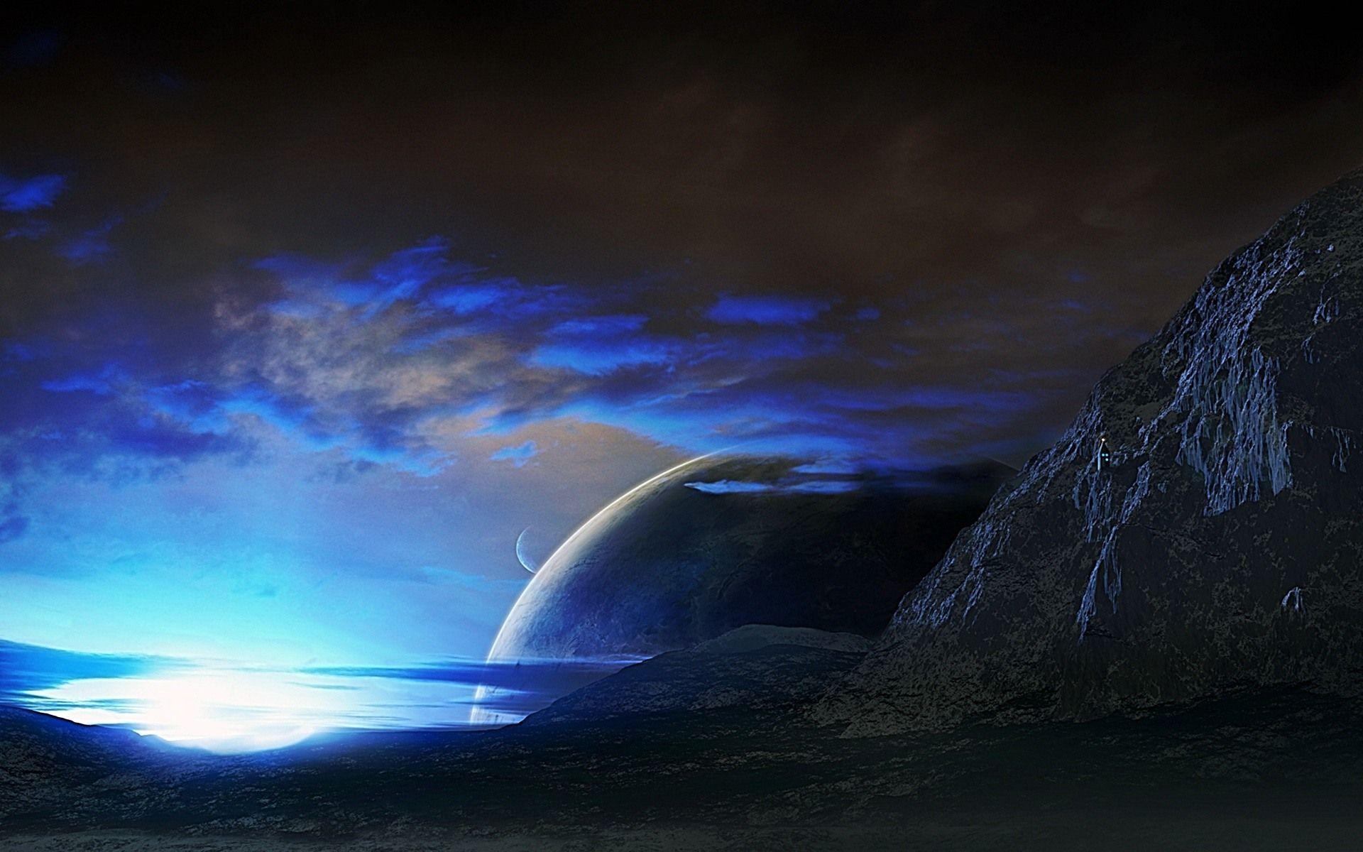 Blue Space Sunset Wallpaper Hd Widescreen 2 Hd Wallpapers Eakai Com Sunset Wallpaper Blue Sunset Lake Sunset