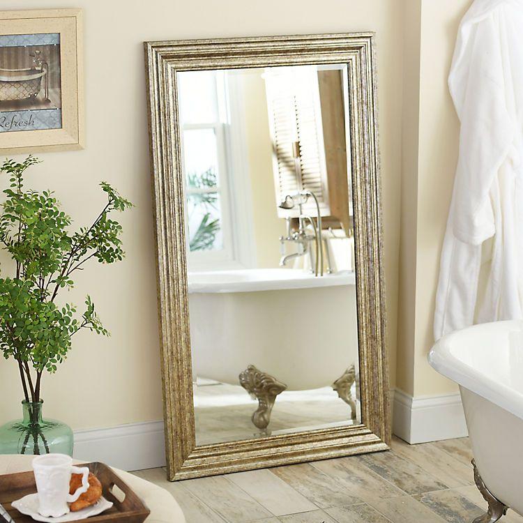 Antique Silver Frame Mirror, 32x56 | Silver framed mirror ... on Floor Mirrors Decorative Kirklands id=30224