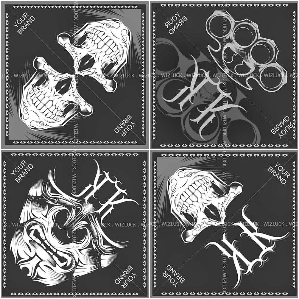 bandana design template wizluck artshop bandana design