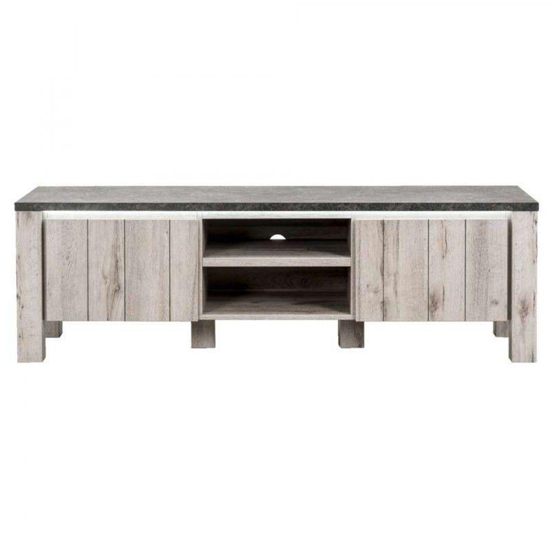 Leen Bakker TV-meubel Jens - betonlook - 52x168x50 cm - incl ...