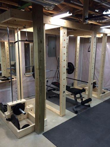 homemade power rack  diy home gym home made gym home