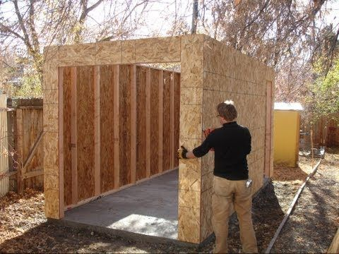 how to build a shed you can never have enough storage space your basement and garage can only. Black Bedroom Furniture Sets. Home Design Ideas