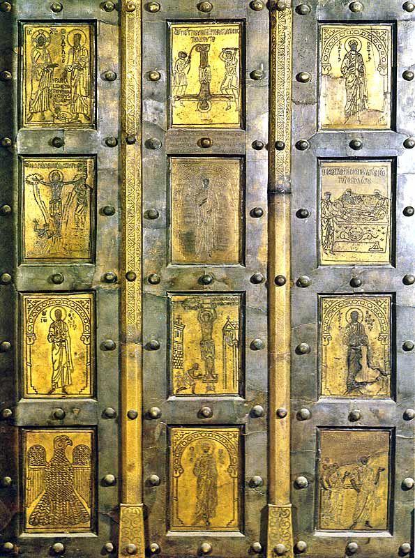 Medieval Bronze Doors In Italian Churches Church Vintage Doors Old Church
