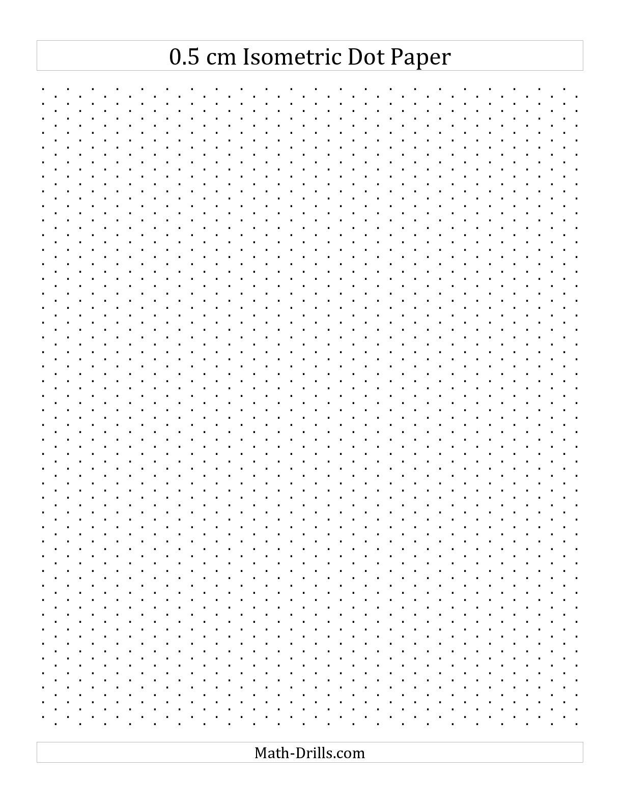 The 0 5 Cm Isometric Dot Paper Portrait A Math Worksheet From The Graph Paper Page At Math