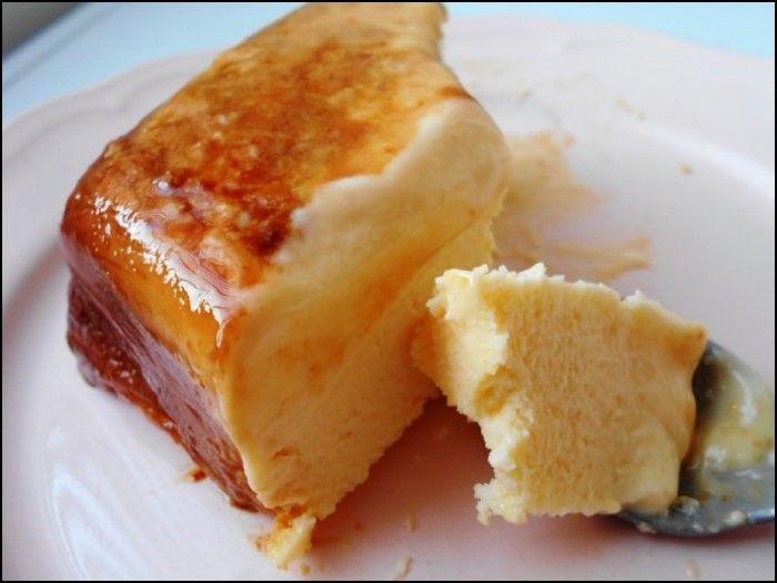 Microondas flan napolitano con queso de untar y leche - Postres con queso de untar ...