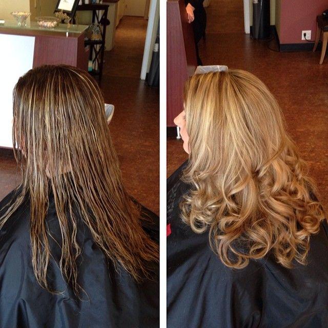 Today's color, cut and style before and after! #hairstylist#hair#salon#nj#atlanticcity#oliviagarden#beautytools#loveoliviagarden#angelacottrill#blobde#wella#goldwell#art#artist#full#waves#modernsalon#behindthechair#btc