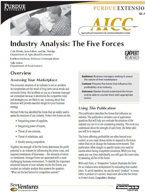 Industry Analysis Template  Stationary Templates