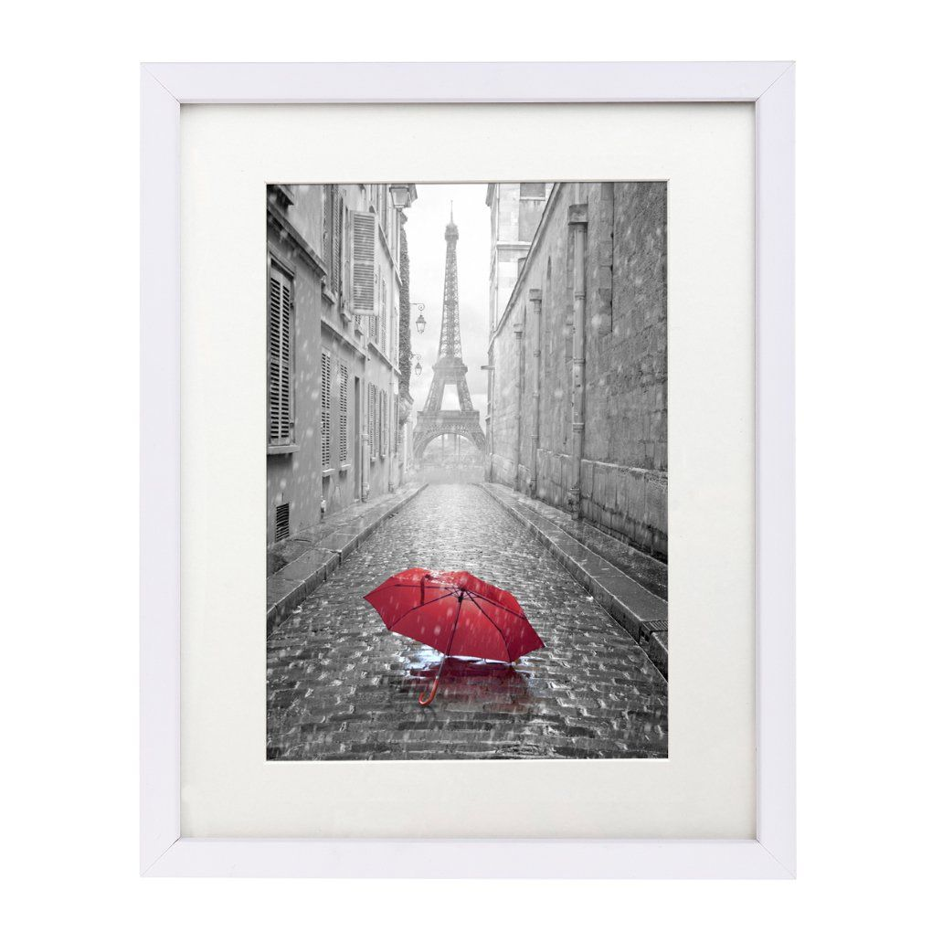 11x14 White Wall Picture Frame - Made to Display Pictures 8x10 with ...