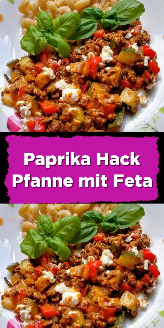 Paprika Hack Pfanne mit Feta