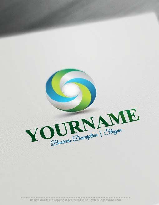 Best Business Logo Design App: Brand your business easily with 3D Spiral Logo template and the best rh:pinterest.com,Design