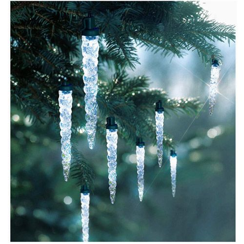 Holiday Time 30-Count LED Icicle Strands Christmas Lights, Cool