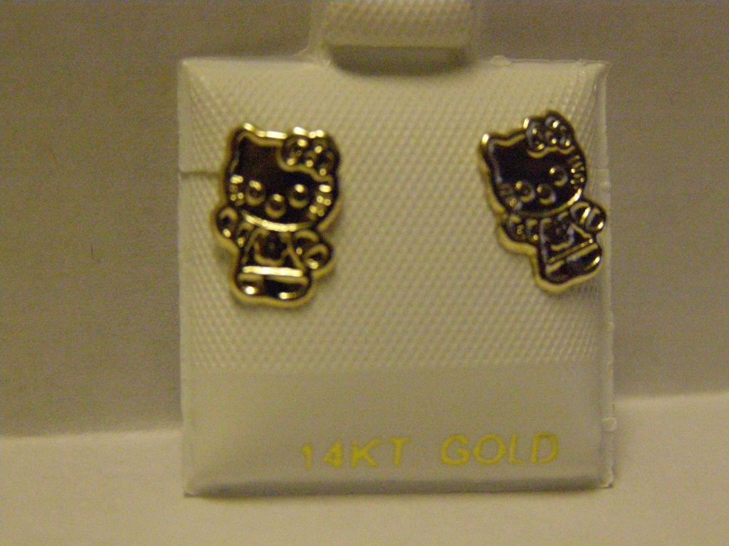 gold hello kitty jewelry | GOLD HELLO KITTY EARRINGS | Accessories ...