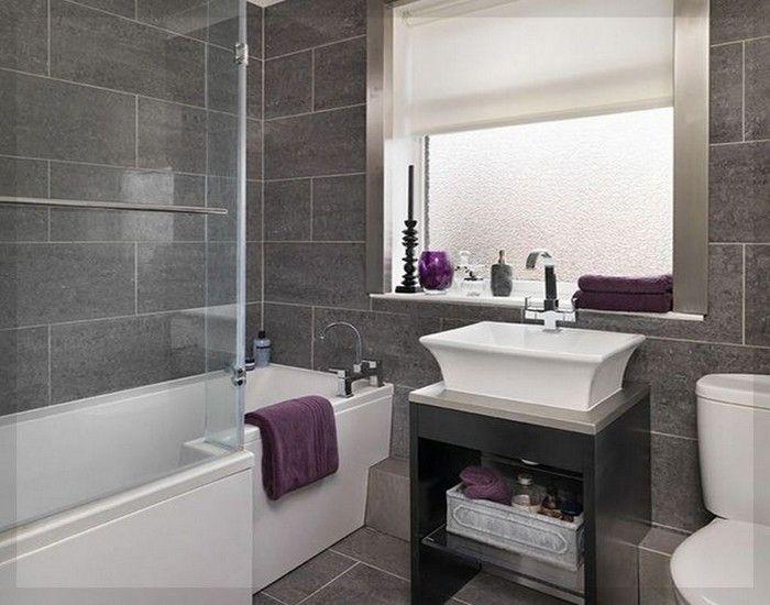 Moderne Badezimmer Fliesen Grau Ideen 13