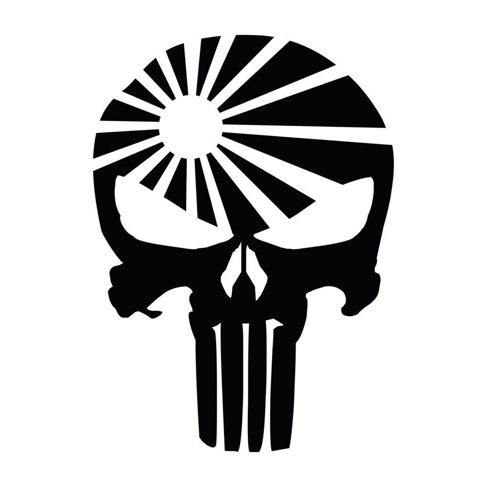Punisher Skull Jdm Rising Sun Vinyl Decal Sticker Punisher Skull Skull Vinyl Decal Stickers [ 1000 x 1000 Pixel ]