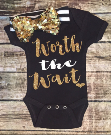 8f857e66d Worth The Wait Onesie | Babies | Baby, Baby girl fashion, Cute baby ...