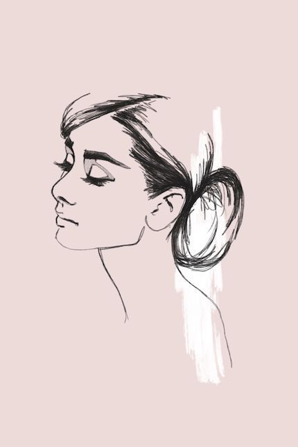 Minimalistic portrait drawing of Hollywood actress Audrey Hepburn. #minimalisticart #audreyhepburn #hollywood #classichollywood #style #Accessories #shopping #styles #outfit #pretty #girl #girls #beauty #beautiful #me #cute #stylish #photooftheday #swag #dress #shoes #diy #design #fashion #outfits