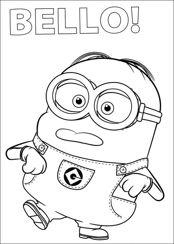 Minions-colorear (4) Dibujos para colorear Pinterest - new minions coloring pages images