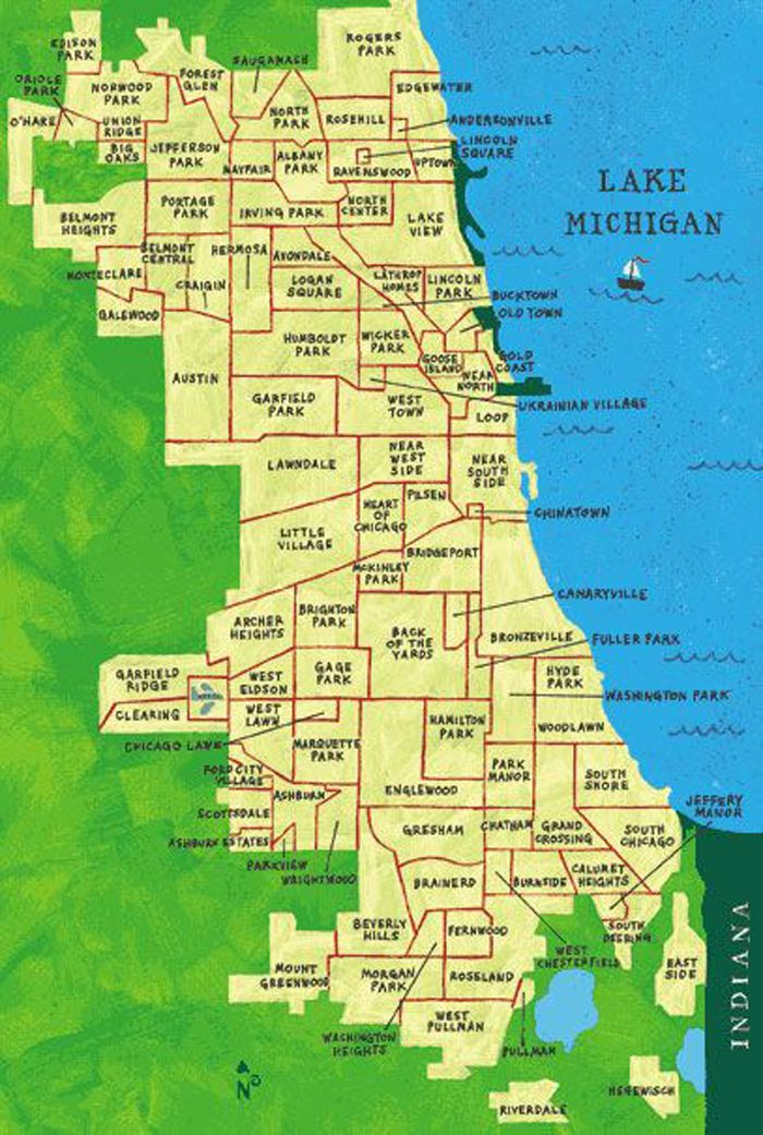 Map Of South Side Chicago Neighborhoods The neighborhoods of Chicago. I lived in Edgewater very near to