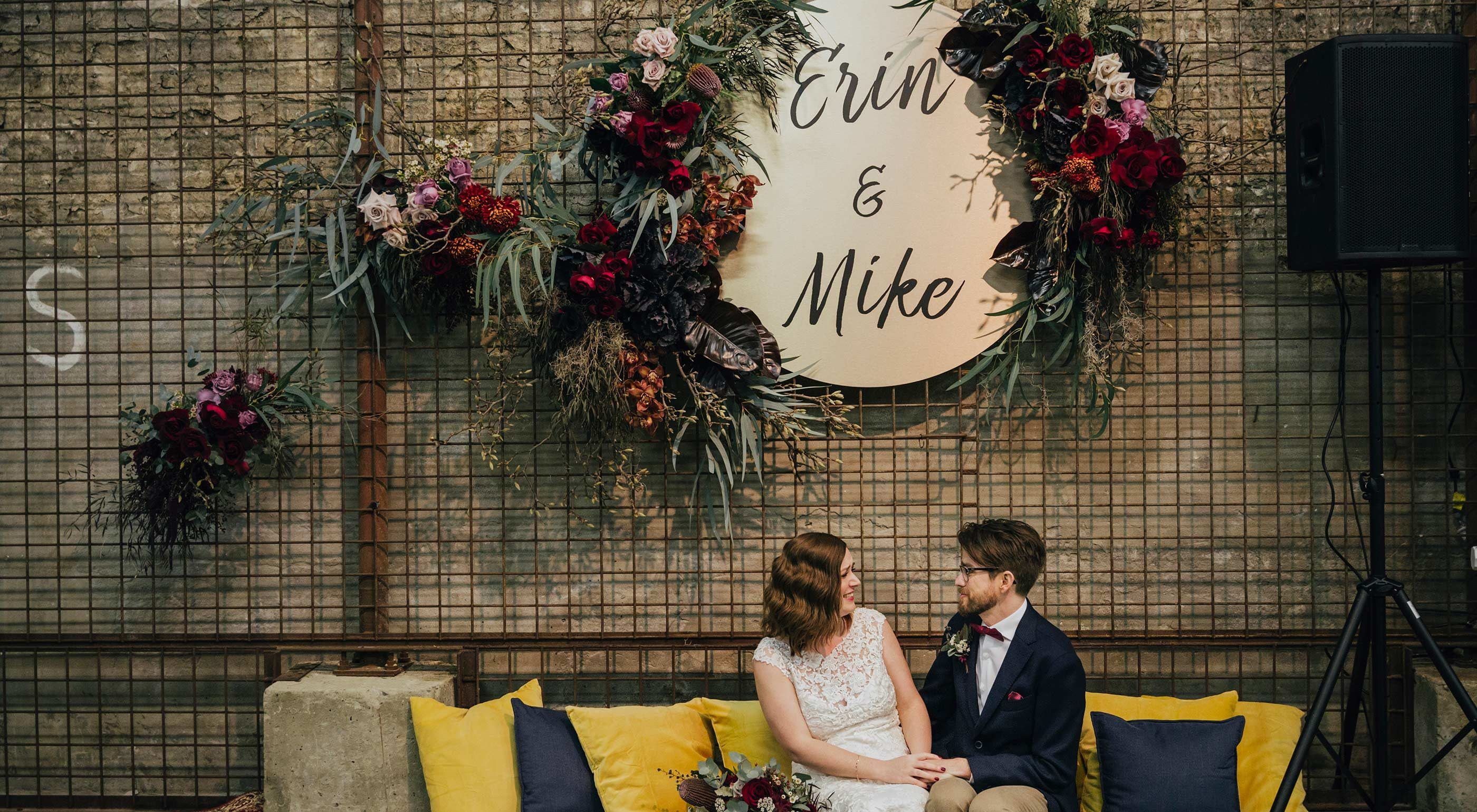 Erin & Michael Took Their Wedding from the Backyard to