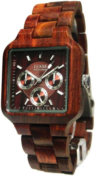 a69361100498 Tense Wooden Watch