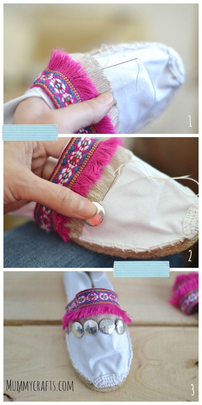 Resultado de imagen para alpargatas bordadas a mano