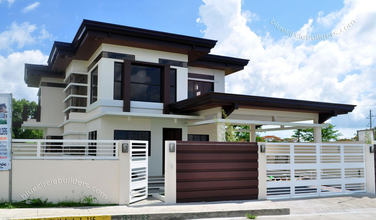 Modern Architecture Two Storey Home Philippines House Design 2 Storey House Design Modern House Plans