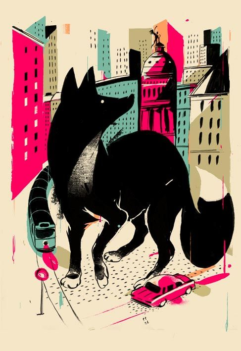 Black Fox Giant // Illustration by Studio Posti