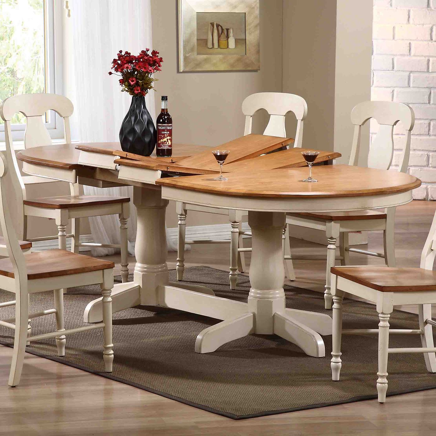 Shop Iconic Furniture Oval Double Butterfly Leaf Dining Table At Atg Stores Browse Our Din Oval Table Dining Farmhouse Kitchen Tables Extendable Dining Table