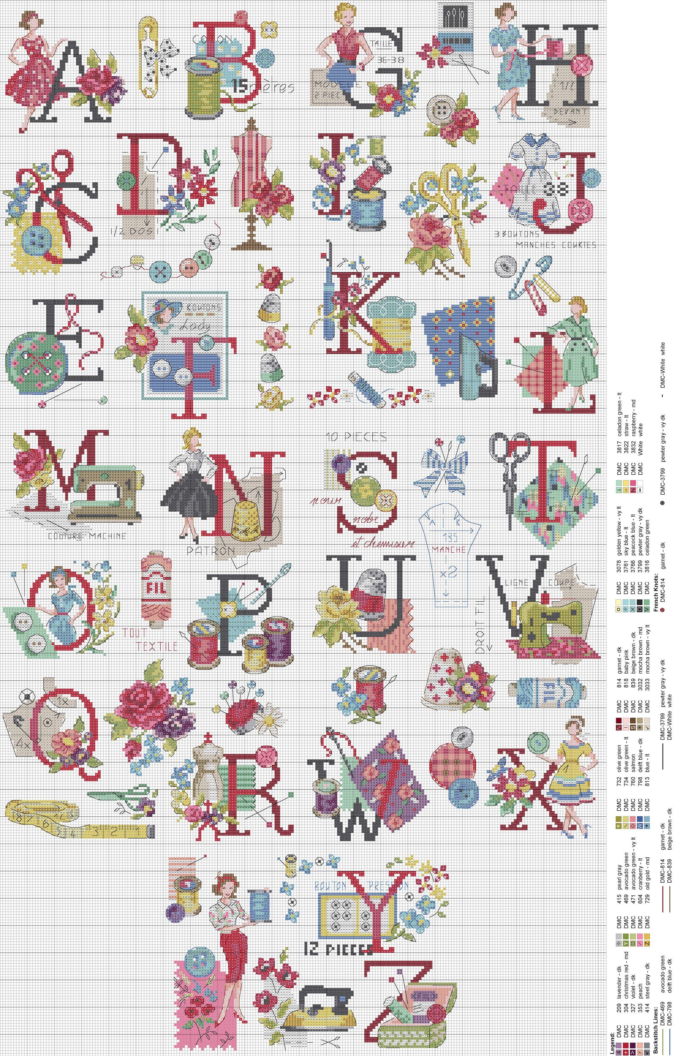 無料 アルファベット 無料 : Audrey Cross Stitch Alphabet