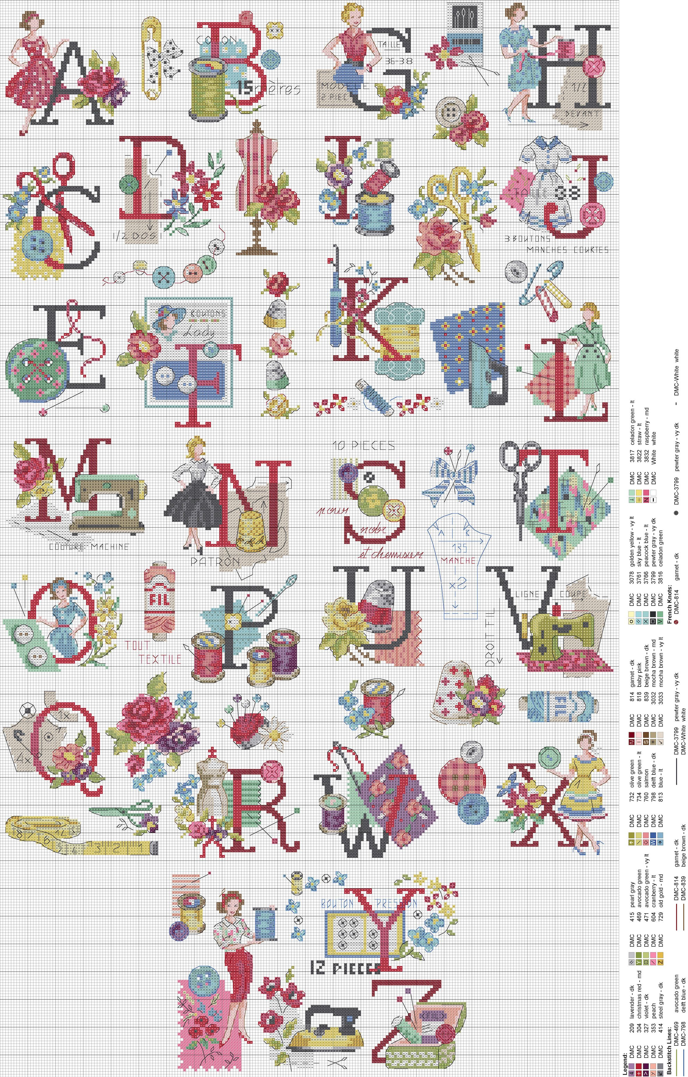Audrey Cross Stitch Alphabet : アルファベット 無料 : 無料