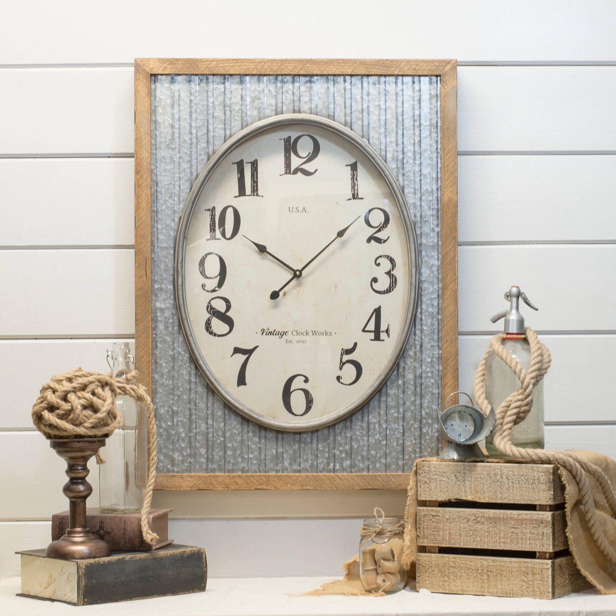 Metal With Wood Frame Wall Sign Panels Light Gray 31 X 24 Vip