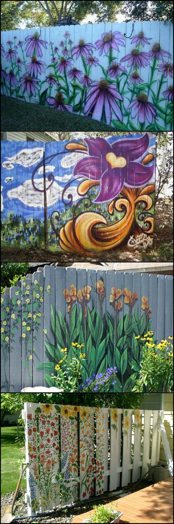 Dream fence mural fence painting gardening pinterest fences