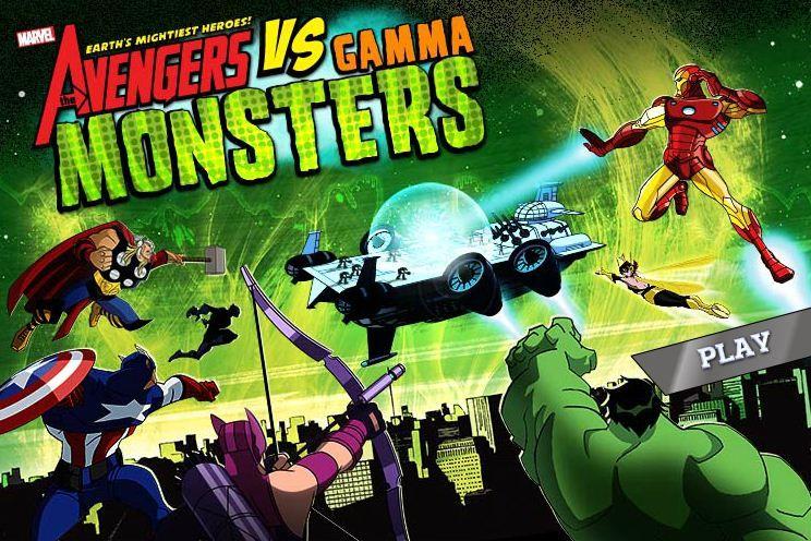 Avengers vs Gamma Monsters game online Monster games