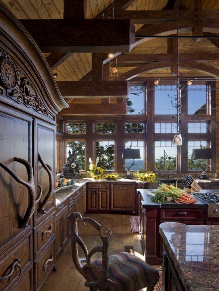 Mountain Cabin - Kitchen ! | Rustic Architecture | Cabin ...