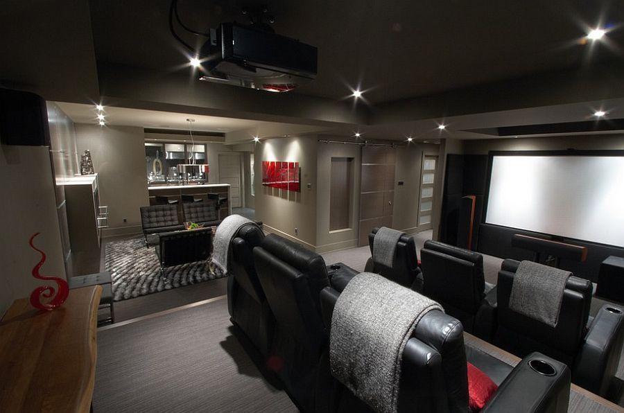 Basement Home Theater Ideas Diy Small Spaces Budget Medium