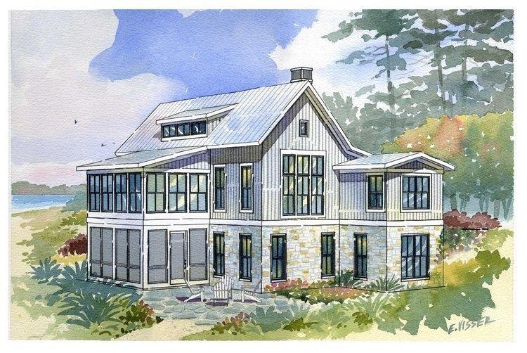 Coastal House Plans 1637-00007