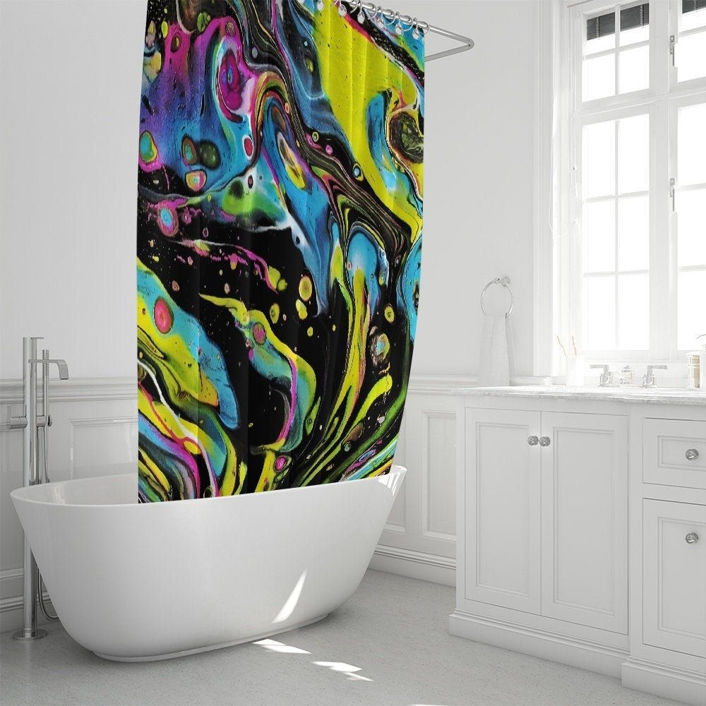 Psychedelic Shower Curtain Psychedelic Shower Curtain Curtains