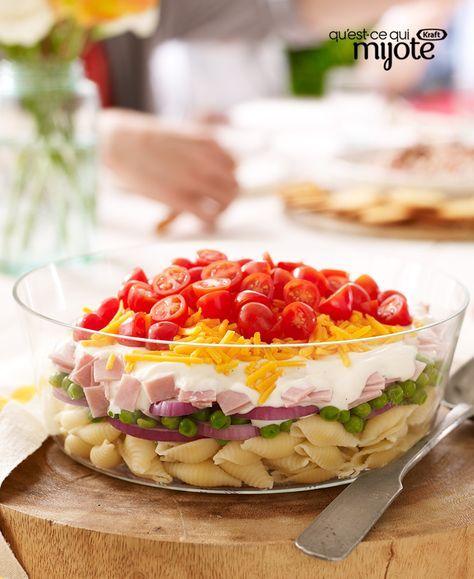 Salade de pâtes étagée | Qu'est-ce qui mijote de Kraft ...