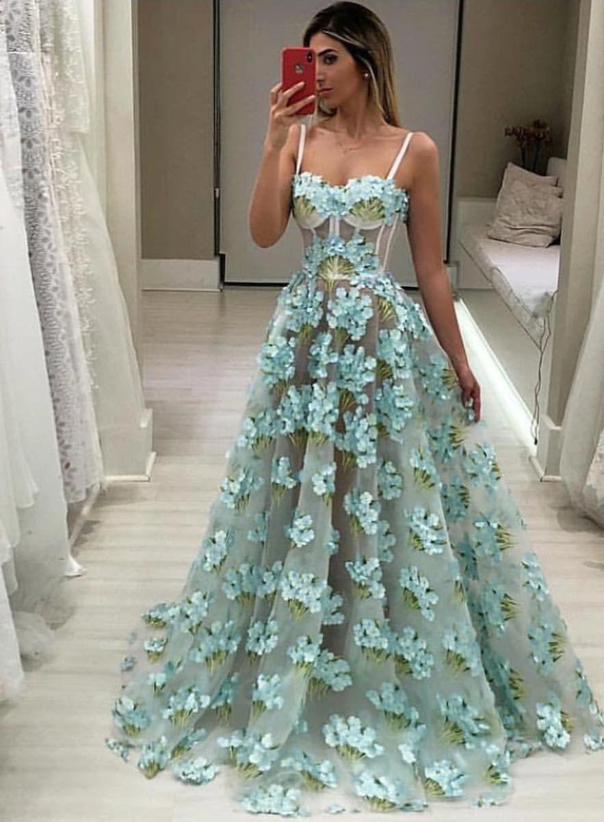 e752eabf2 Vestido de gala elegante moda 2019 tendencia