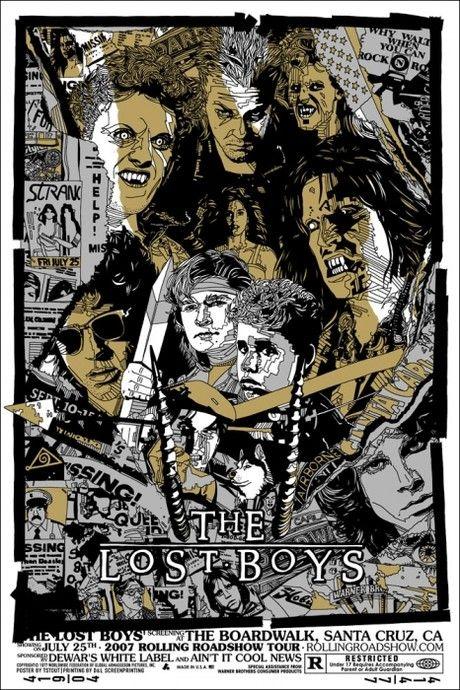 Mondo Unveils New Lost Boys Poster Art News Geektyrant Lost Boys Movie Mondo Posters Boys Posters