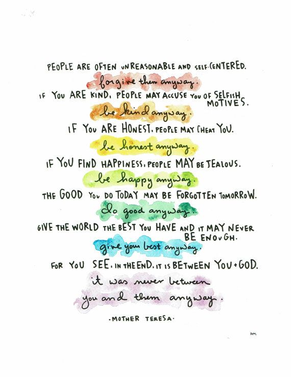 Hey i found this really awesome etsy listing at httpsetsy mother teresa do it anyway poem print thecheapjerseys Gallery