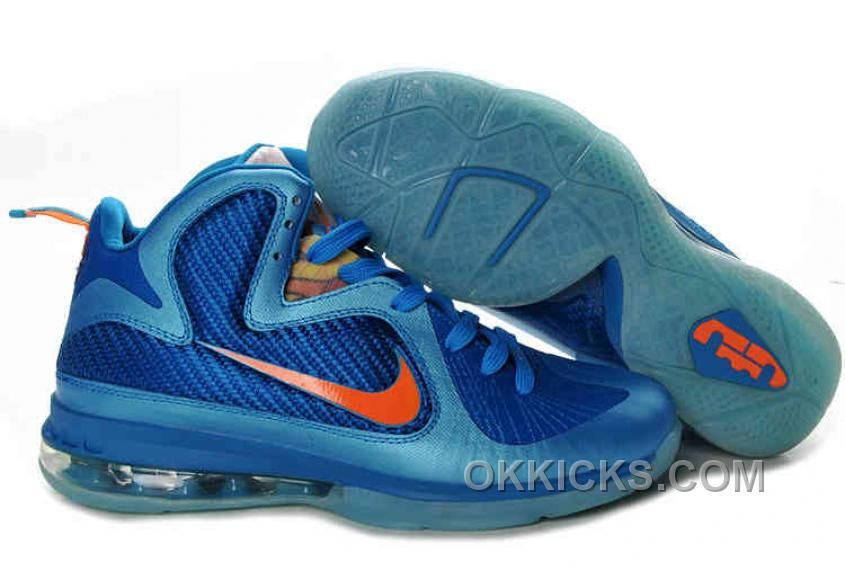 the latest cf9a0 9c84c Buy Original Nike Lebron 9 Shoes China Neptune Blue Current Blue Total  Orange 469764 800 Copuon Code from Reliable Original Nike Lebron 9 Shoes  China ...