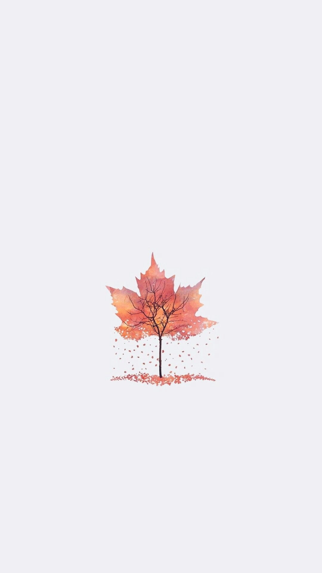 White Fall Leaf Background Phone Autumn Iphone Wallpaper Lock Screen Fall Wallpaper Autumn Leaves Wallpaper Iphone Wallpaper Fall