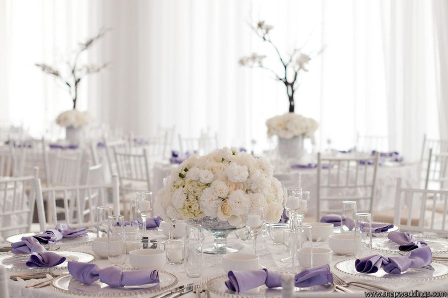 Very nice fresh lilac ivory table