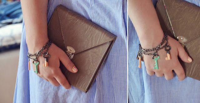 diy Keys and chains bracelet