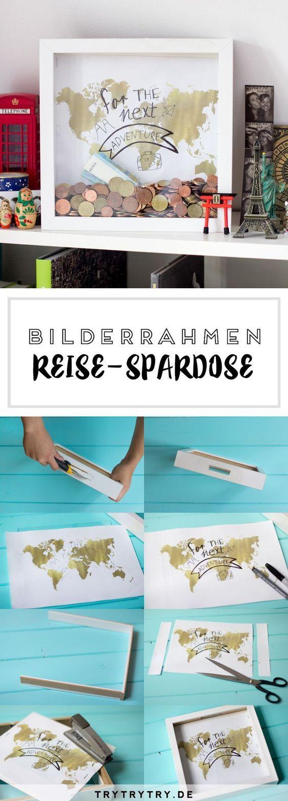 DIY Reise-Spardose & 7 Spartipps für die nächste Reise #reise ...