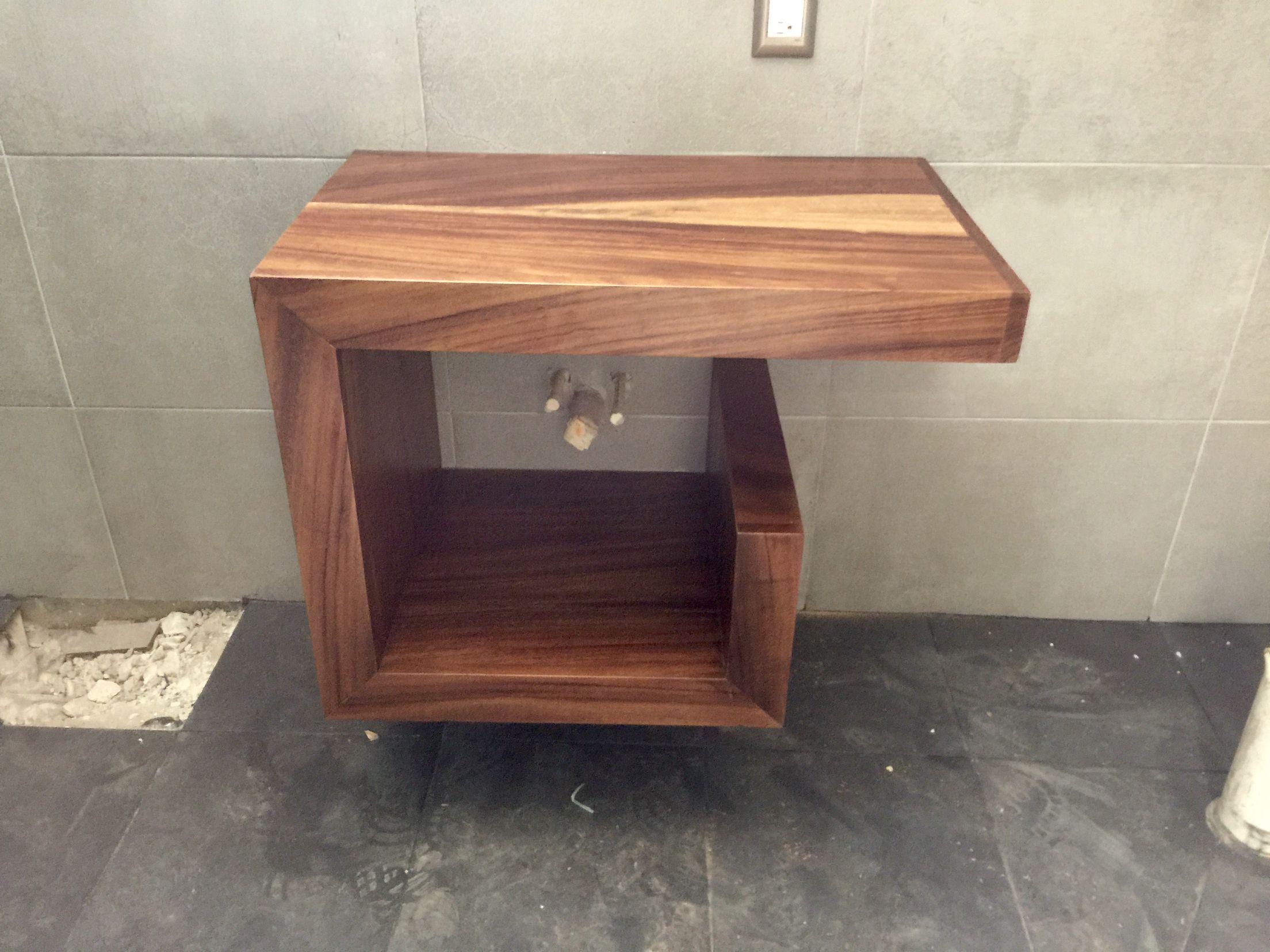 Mueble de ba o en madera de parota ba os pinterest for Mueble lavabo madera