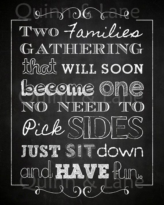 Chalkboard No Seating Plan Sign Wedding by QuinnAndLaneDesigns